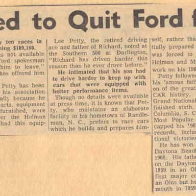 PETTY QUITTING FORD