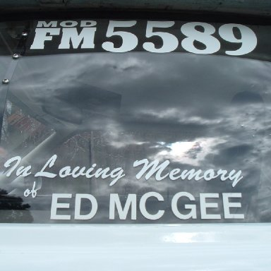Memorial Lettering on Daddy's stripper