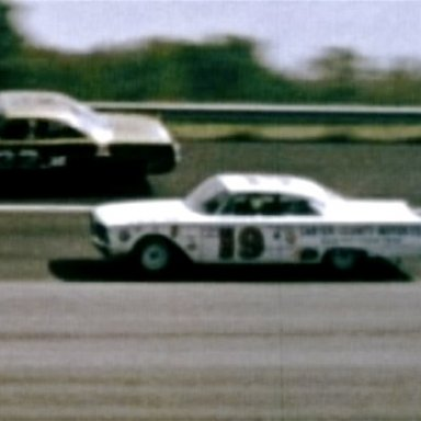 Herman Beam in a 60 Ford at Darlington