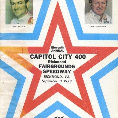 Program Cover,Richmond 1978