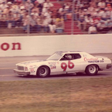 Earnhardt racing at Charlotte