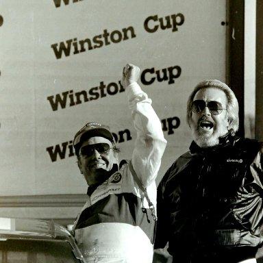 Charlie Glotzbach and Bill Broderick Victory Lane Atlanta ARCA