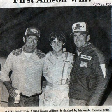 DAVEY,S FIRST WIN IN RACING
