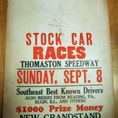 1946 Thomaston Speedway, GA.