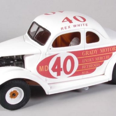 Rex White 37 Ford modified from 1956