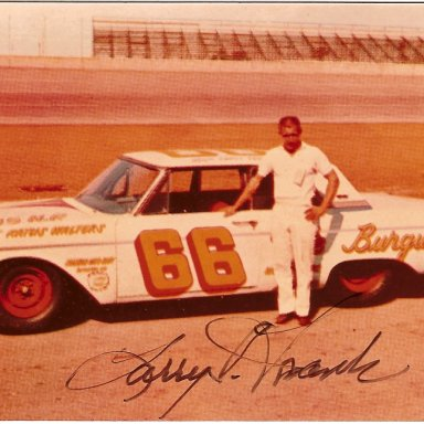 Larry Frank #66 - Winner 1962 Southern 500