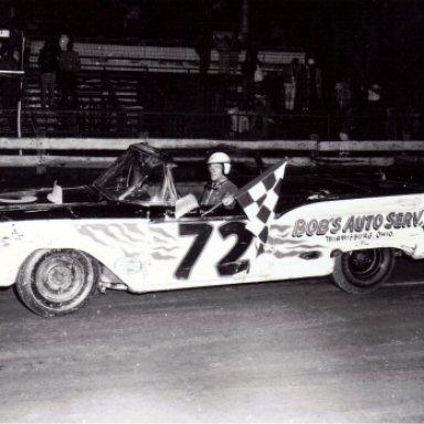 Dick Freeman in Bob Korn's car