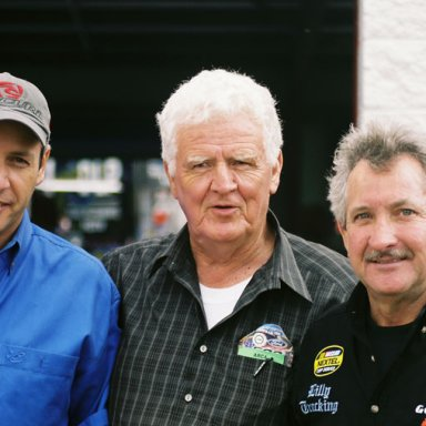 Kirk Shelmerdene, James Hylton and Phil Harris