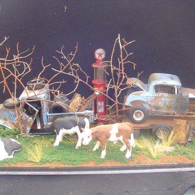 """out to pasture"" tim bruner diorama"