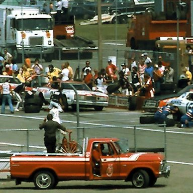 #15 Buddy Baker #21 David Pearson 1976 Champion Spark Plug 400 @ Michigan