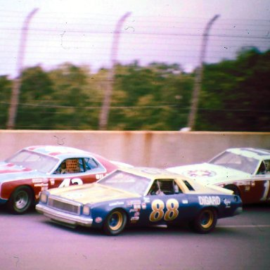 #43 Richard Petty #88 Donnie Allison #11 Cale Yarbough 1974 Motor State 400 @ Michigan