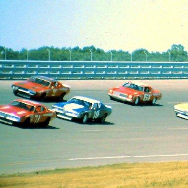 USAC #71 Bobby Unser #28 A J Foyt #19  Ron Keselowski #2 Ramo Stott #75 Butch Hartman #61 Terry Ryan 1974 Twin 200 @ Michigan