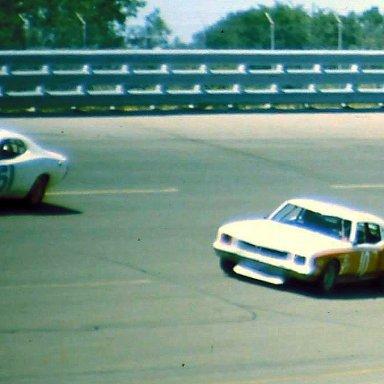 USAC #51 Bob Whitlow #10 John Schultz 1974 Twin 200 @ Michigan