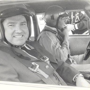 My dad and Fireball Roberts doing Hot Laps at Atlanta 1964