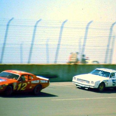 USAC #12 Bay Darnell #52 Dick Trickle 1974 Twin 200 @ Michigan