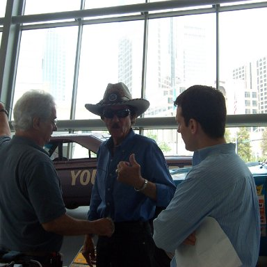 Richard Petty at the NASCAR Hall of Fame
