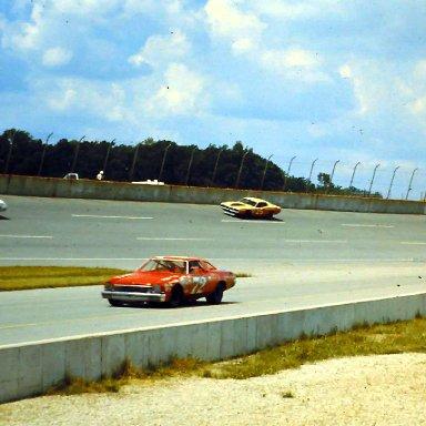 #78 Vic Parsons #72 Benny Parsons #25 Jabe Thomas #92 Larry Smith 1973 Motor State 400 @ Michigan