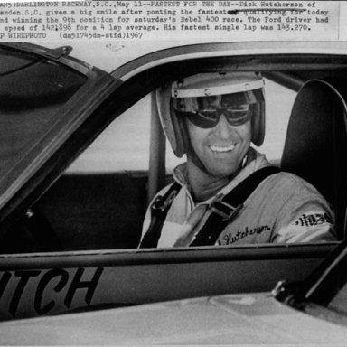 Dick Hutcherson Darlington Fastest Press Photo