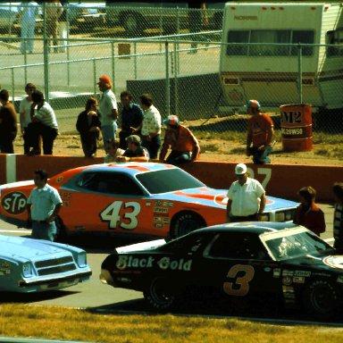 #3 Richard Childress #43 Richard Petty #27 Sam Sommers 1977 Champion Spark Plug 400 @ Michigan