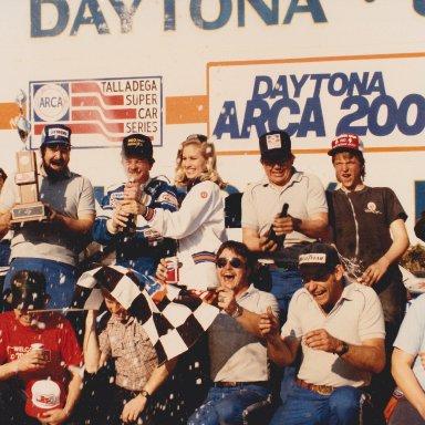 1985 Daytona ARCA 200 victory lane