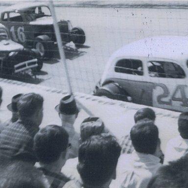 H.E. Vineyard,Lil Bill Corum,M.C. Kerr at Knoxville Raceway