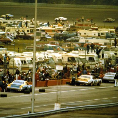 #47 Harry Gant #2 Dale Earnhart #43 Richard Petty 1980 Gabriel 400 @ Michigan