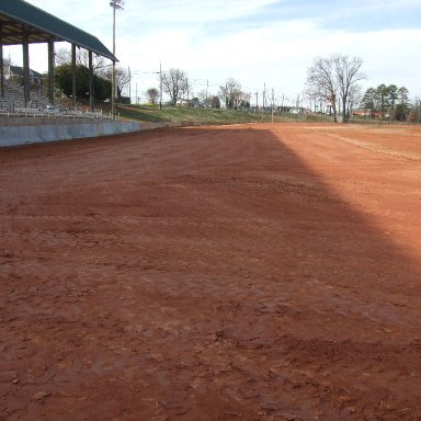 Front stretch looking into turn #4