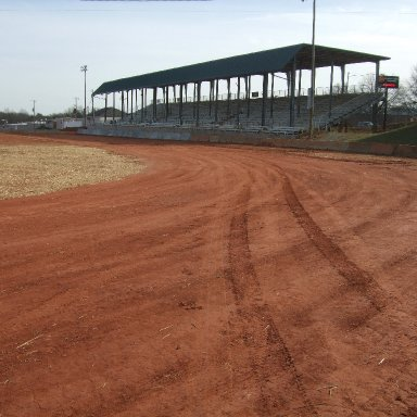 Turn #4 and grand stands