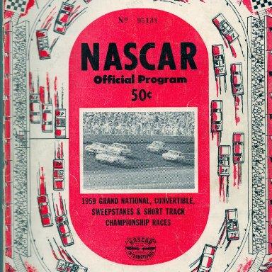 1959 NASCAR Program
