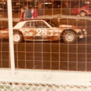 Speedway Park, Jax Fl. # 28 Allen Jacobs, Ford Falcon  # 33  Bill Mashoe.