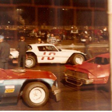 Speedway Park, Jax Fl. #6 Ford Mustange, Jack Etherage, # 44 Camaro, Terry Mock
