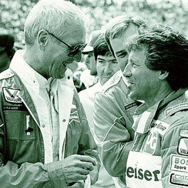 Paul Newman and Mario Andretti