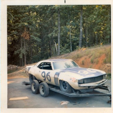 Gene first professional road race returning from mid-ohio, 1972