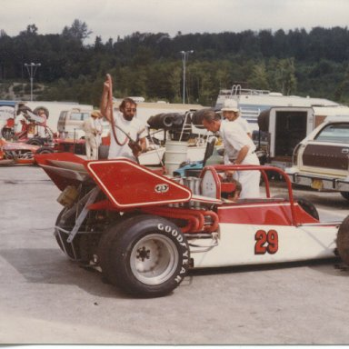 Cliff Hucul with Rear engine supermodified.