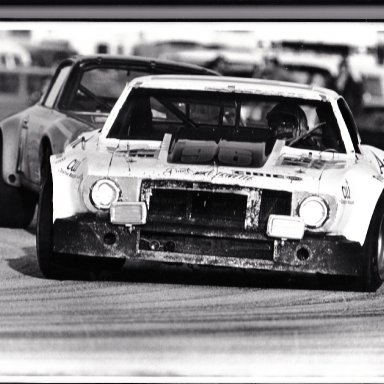Gene Aggrivating some Porsches at Daytona