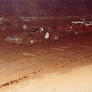 Having fun at Dixie Speedway, 1971