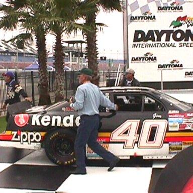Gene's First Historic Stockcar winning Daytona