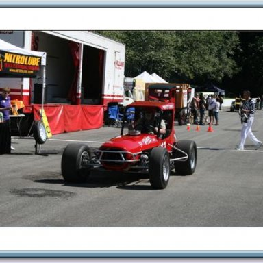 Ralph Monhay's supermodified  Modified at Langley speedwa 2008