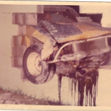 Opel out wall @ Memorial Stadium Daytona Beach 1972