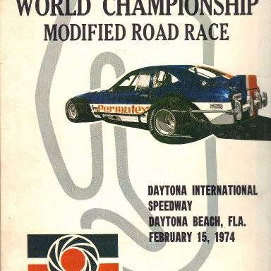 '74 Daytona Permatex Modified Race press kit