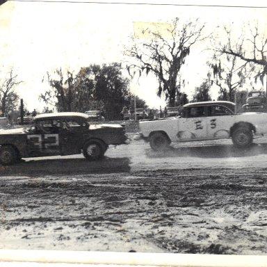 Action at Deland Raceway-1970