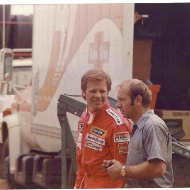 The late Mark Donohue and Lennie Pond