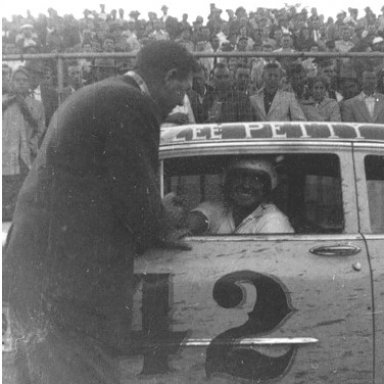 Lee Petty --42- At Shrader Field-Finished Third-Photo Unknown