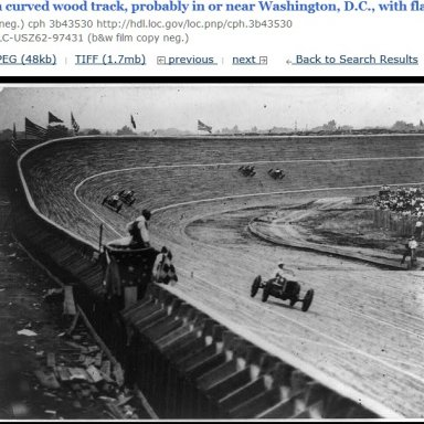 Wooden race track near D.C.
