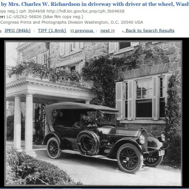 Car in Driveway in Washington, D.C. 1919