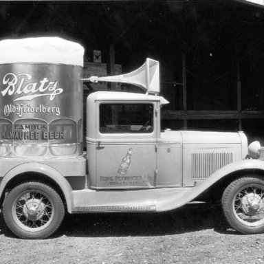 Beer truck promotion vehicle