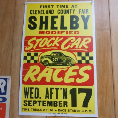 Old race poster from the early 70's
