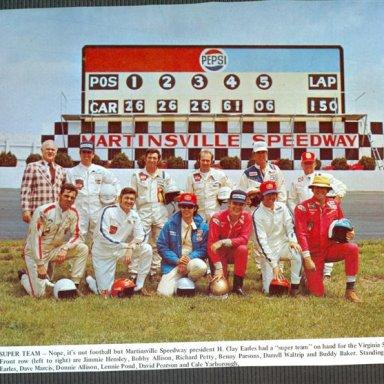 Martinsville Speedway, Group Shot