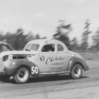 Gober Sosebee and Red Byron at Unknown Track.