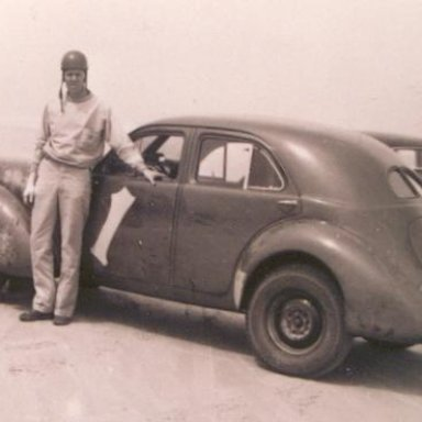 Bill France in his Raymond Parks owned Graham
